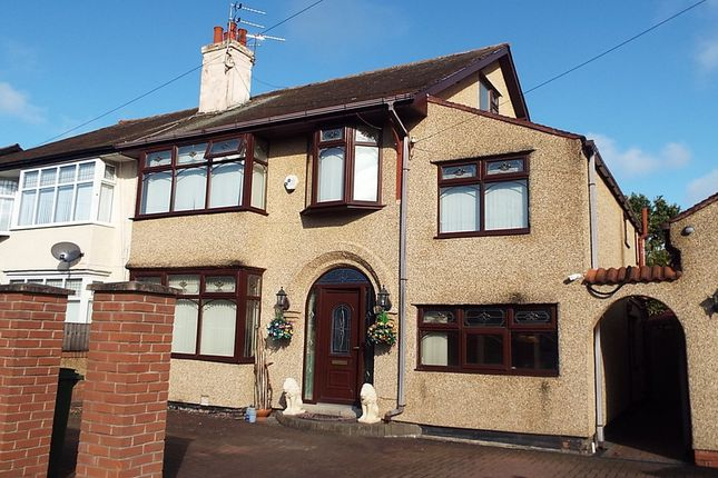Thumbnail Semi-detached house for sale in Croft Avenue, Bromborough, Wirral
