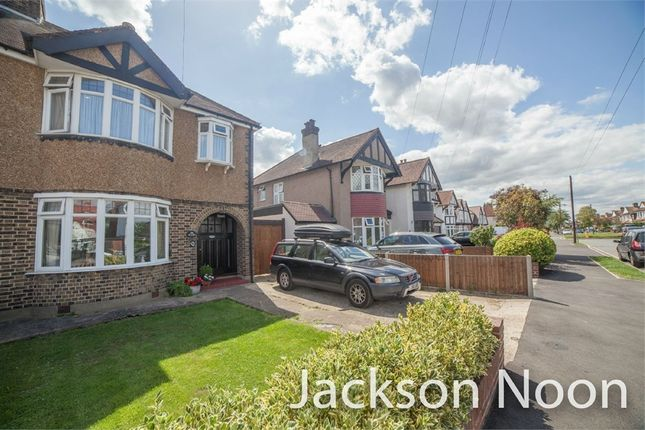 Thumbnail Semi-detached house for sale in Chadacre Road, Stoneleigh, Epsom