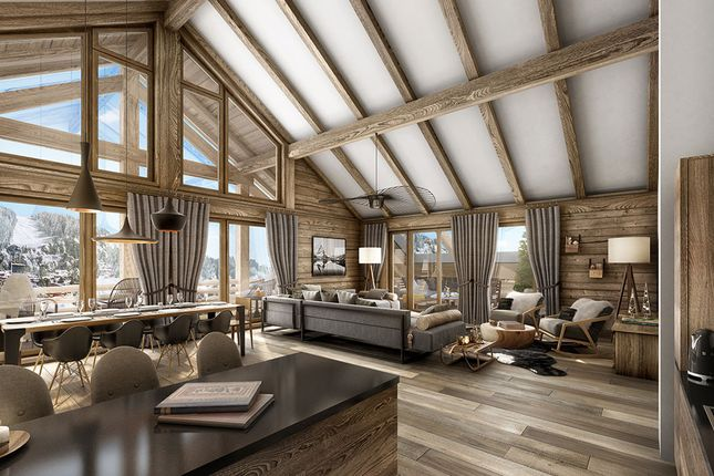 Interior of Les Carroz-D'araches, Haute Savoie, France