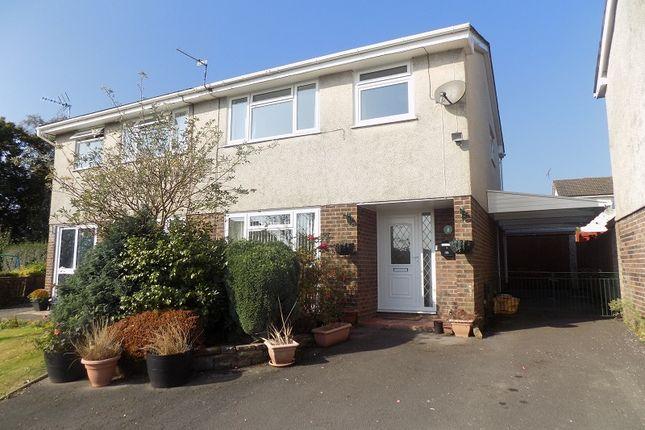 Thumbnail Semi-detached house for sale in Woodlands Park, Pencoed, Bridgend.