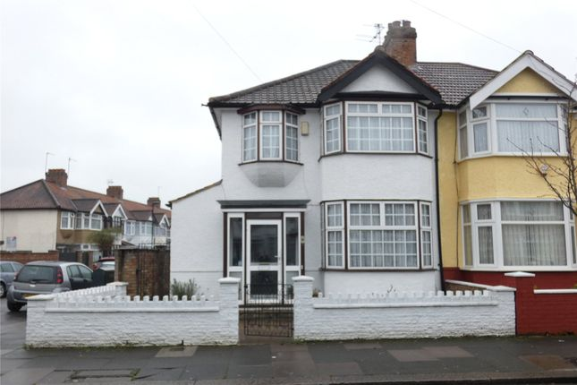Thumbnail Semi-detached house for sale in Rosemary Avenue, Edmonton, London