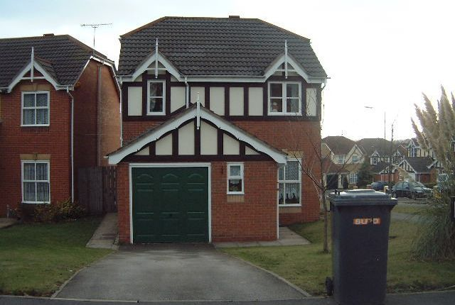Thumbnail Detached house to rent in Mickleton Close, Church Gresley, Swadlincote