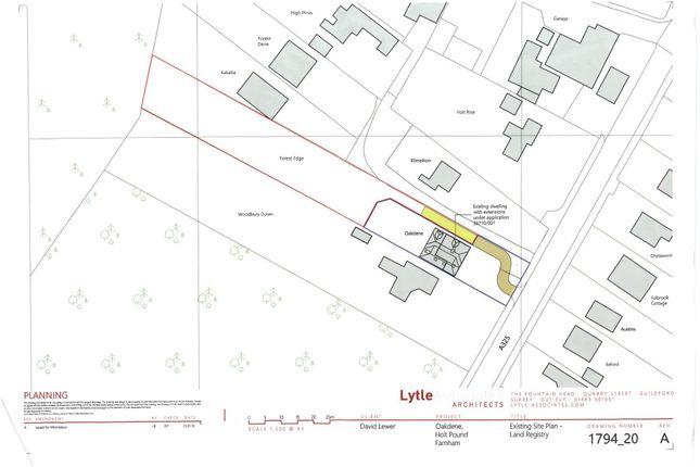 Thumbnail Land for sale in Farnham Road, Holt Pound, Farnham, Surrey