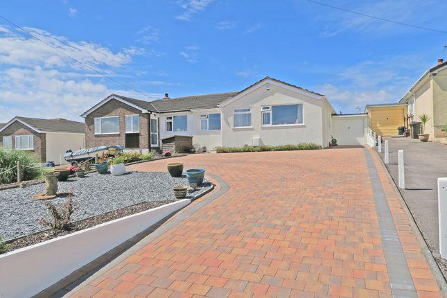 Thumbnail Semi-detached bungalow for sale in Eddystone Road, Down Thomas, Plymouth, Devon, 0Ar.