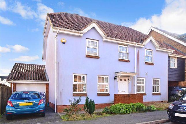 Thumbnail Link-detached house for sale in Atkinson Road, Hawkinge, Folkestone, Kent