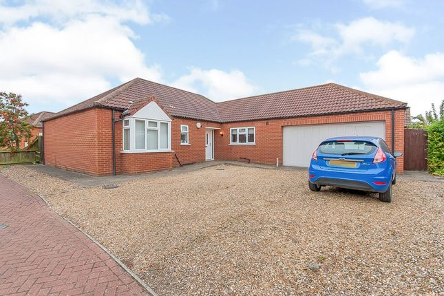 Thumbnail Detached bungalow for sale in Jubilee Close, Sutton St. James, Spalding