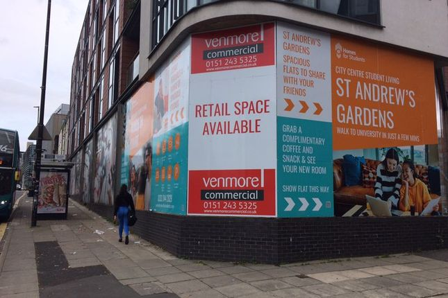 Thumbnail Commercial property to let in Retail Oppurtunity, London Road, Liverpool