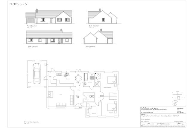 Approved Plan of Development Site For 5 Bungalows, Halwill Junction, Beaworthy EX21