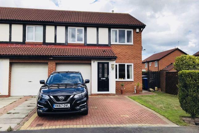 Thumbnail Semi-detached house for sale in Dearham Grove, Northburn, Cramlington