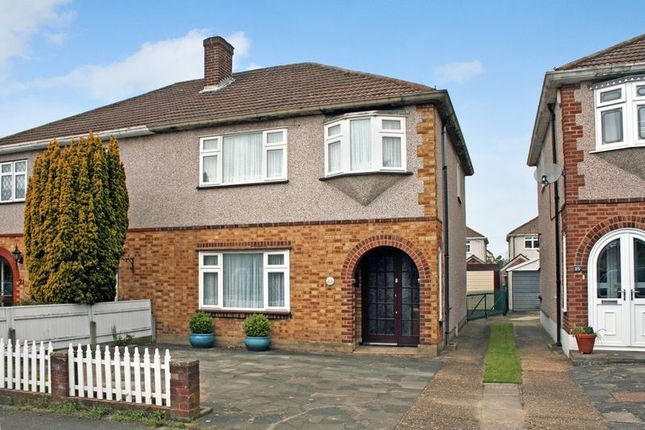 Thumbnail Semi-detached house for sale in Esk Way, Rise Park, Romford