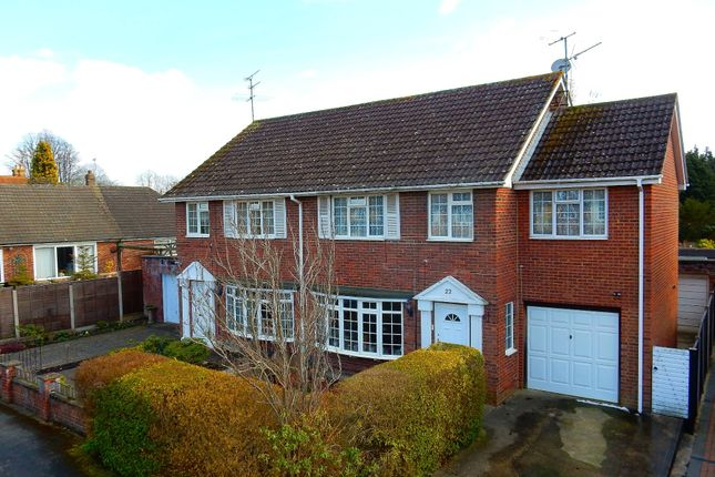 Thumbnail Semi-detached house for sale in Kingsmead, Frimley Green, Camberley