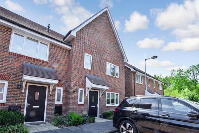 Thumbnail End terrace house for sale in Mole Crescent, Faygate, West Sussex