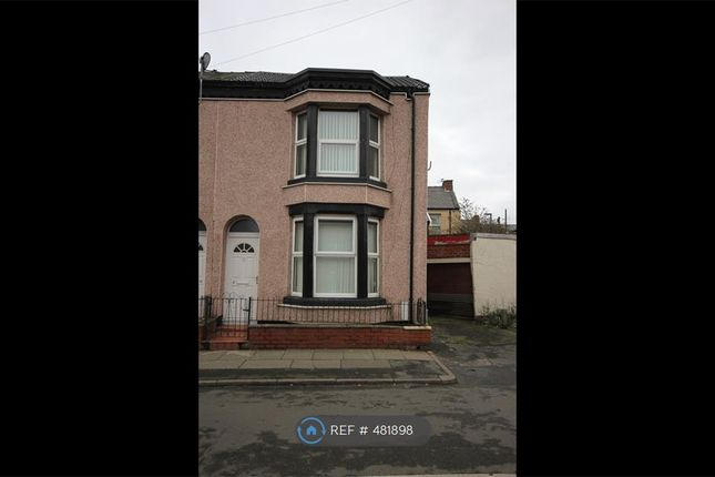 Thumbnail End terrace house to rent in Shelley Street, Bootle