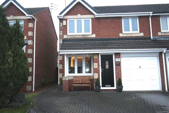 Semi-detached house for sale in Eastwood Place, Hartford Green, Cramlington
