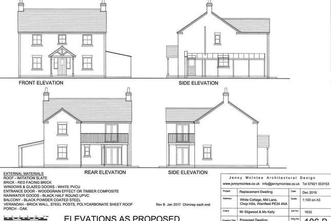Thumbnail Detached house for sale in Chopp Hills, Mill Lane, Wainfleet Skegness Lincs