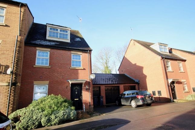Thumbnail End terrace house to rent in Outfield Close, Great Oakley, Corby