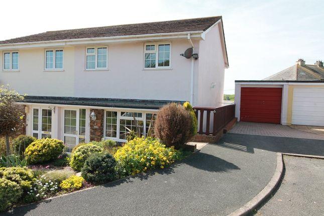 Thumbnail Semi-detached house for sale in Mount Pleasant Close, Kingsbridge