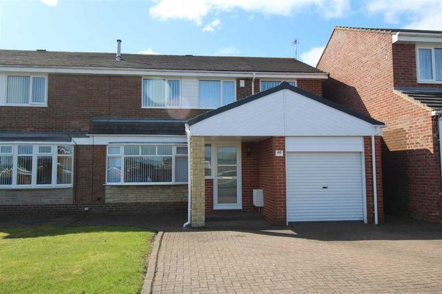 Thumbnail Semi-detached house for sale in Porchester Drive, Eastfield Chase, Cramlington