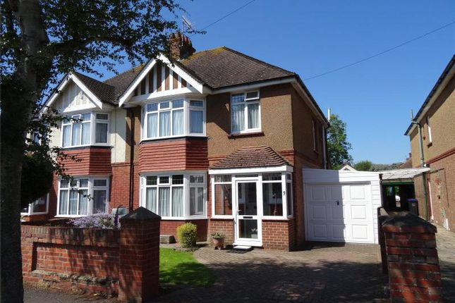 Thumbnail Semi-detached house for sale in Loxwood Avenue, Tarring, Worthing