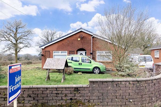 Thumbnail Detached bungalow for sale in Rehoboth Road, Five Roads, Llanelli