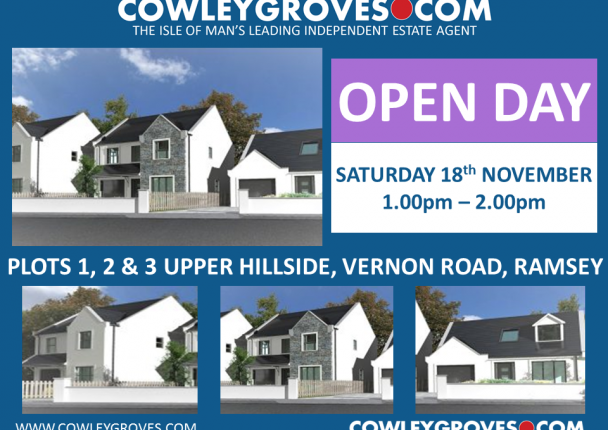 Thumbnail Bungalow for sale in Plot 3, Upper Hillside, Vernon Road, Ramsey