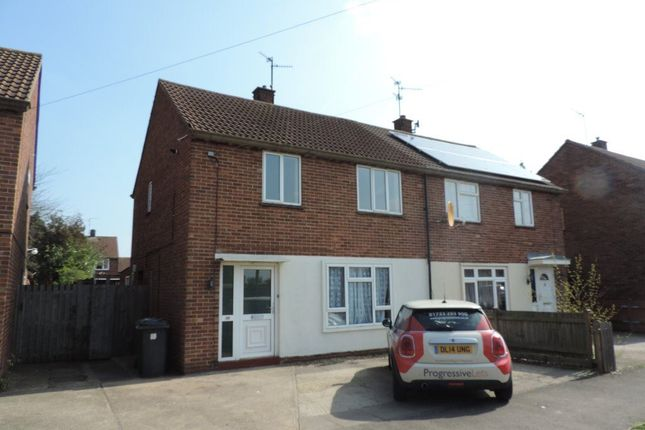 Thumbnail Semi-detached house to rent in Heather Avenue, Dogsthorpe, Peterborough