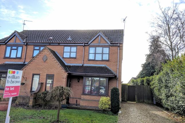 Thumbnail Semi-detached house to rent in Meadow Close, Pinchbeck, Spalding