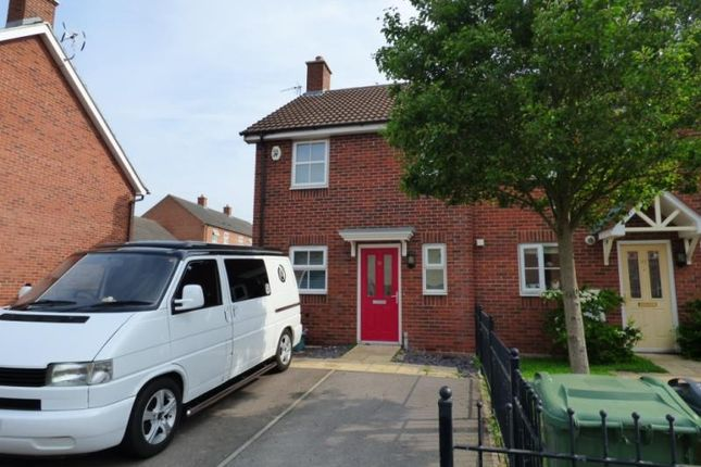 Thumbnail End terrace house to rent in Valley Gardens Kingsway, Quedgeley, Gloucester