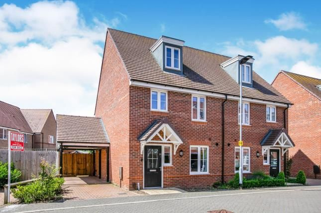 Thumbnail Semi-detached house for sale in Aspen Gardens, Stotfold, Hitchin, Bedfordshire
