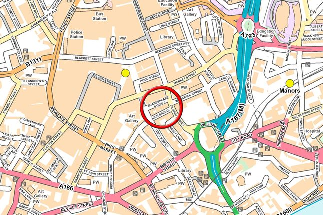 Street Map of Suite 3, Third Floor, Shakespeare House, Newcastle Upon Tyne NE1