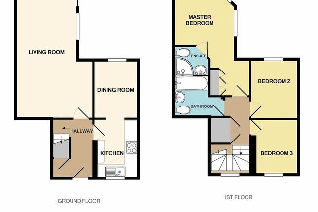 2D Floor Plan of Buckland Walk, Devington Park, Exeter EX6