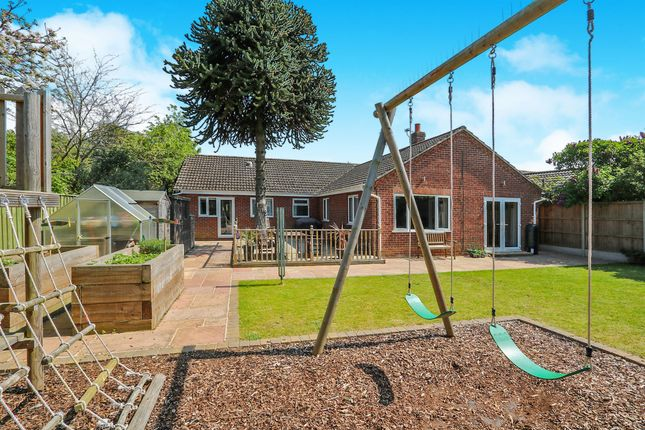 Thumbnail Detached bungalow for sale in Camp Road, Taverham, Norwich