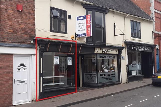 Retail premises to let in Stafford Street, Market Drayton