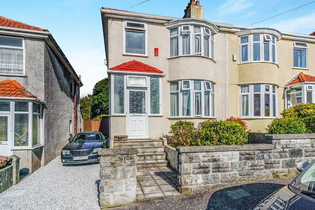Thumbnail Semi-detached house for sale in Bickham Road, Higher St Budeaux, Plymouth