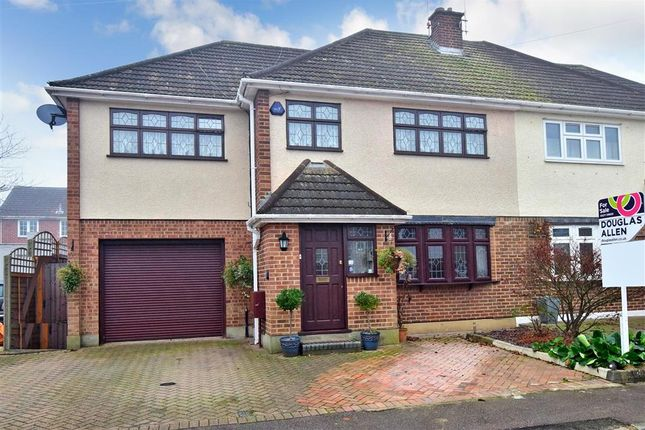 Thumbnail Semi-detached house for sale in Carswell Close, Hutton, Brentwood, Essex