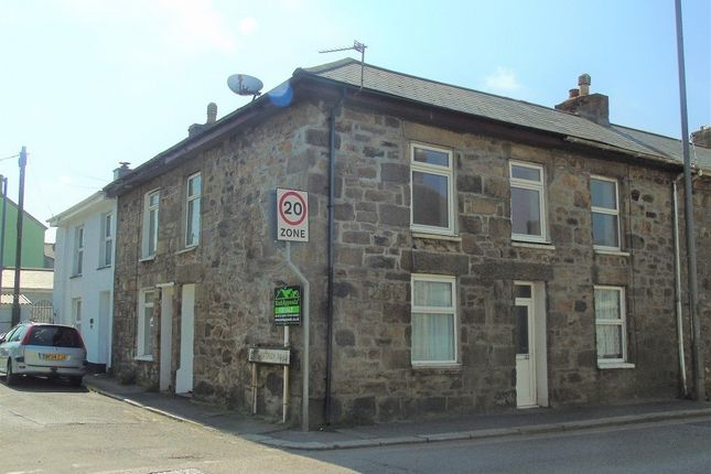 Thumbnail End terrace house for sale in Carnarthan Road, Camborne, Cornwall.