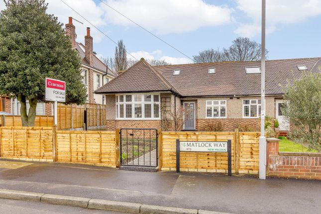 Thumbnail Semi-detached bungalow for sale in Matlock Way, New Malden