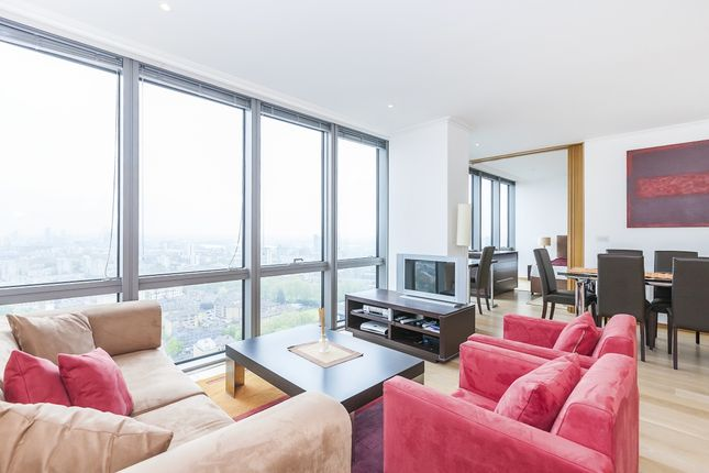 Thumbnail Flat to rent in Hertsmere Road, London, (EPC - B)