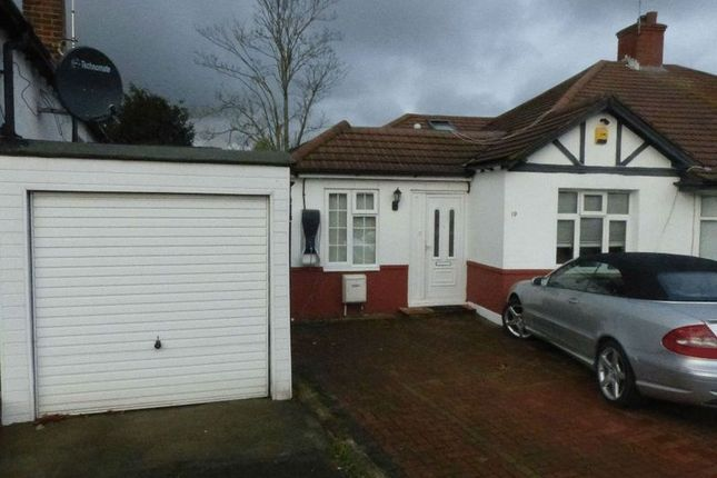 Thumbnail Bungalow to rent in Tudor Close, Wembley, London