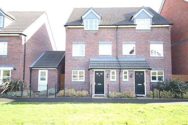 Thumbnail Semi-detached house for sale in College Green Walk, Mickleover, Derby