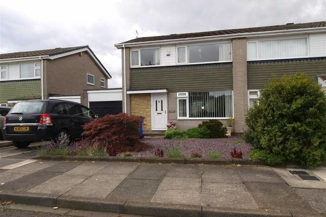 Thumbnail Semi-detached house for sale in Gunnerton Close, Cramlington