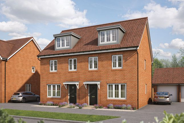 """Thumbnail Semi-detached house for sale in """"The Beech"""" at Maddoxford Lane, Botley, Southampton"""