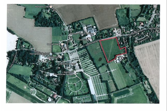 Thumbnail Land for sale in Kenninghall Road, Banham, Norwich