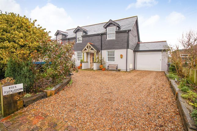 Thumbnail Detached house for sale in Capel Street, Capel-Le-Ferne, Folkestone