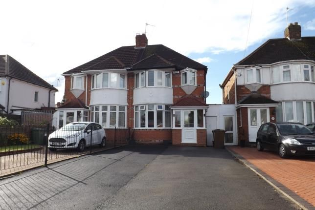 Thumbnail Semi-detached house for sale in Hobs Moat Road, Solihull, West Midlands