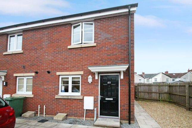 Thumbnail End terrace house for sale in Meadowland Close, Caerphilly, Caerphilly Borough