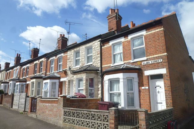 Thumbnail End terrace house to rent in Alma Street, Reading