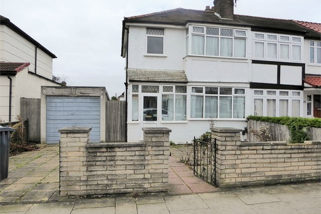 Thumbnail End terrace house to rent in Lee Road, Perivale, Greenford, Greater London