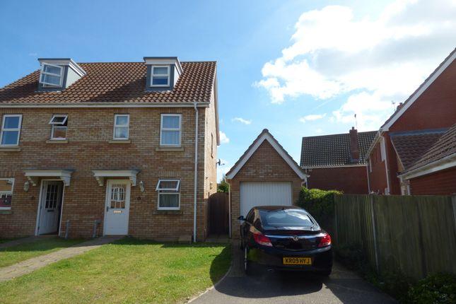 Thumbnail Semi-detached house to rent in Rushton Drive, Carlton Colville, Lowestoft