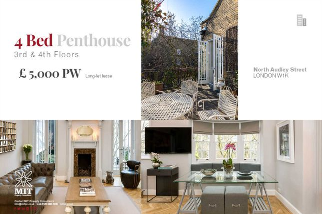 Thumbnail Penthouse to rent in North Audley Street, London